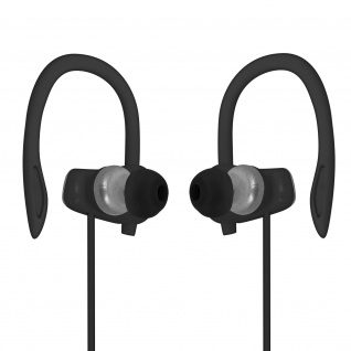Sport Running Kopfhörer mit Ohrbügel, 3.5mm Klinkenkabel, LinQ ? Grau / Schwarz
