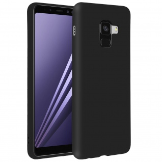 Forcell Samsung Galaxy A8 Soft Touch Silikonhülle, soft case - Schwarz