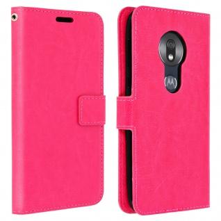 Flip Stand Cover Brieftasche & Standfunktion für Motorola Moto G7 Play - Rosa