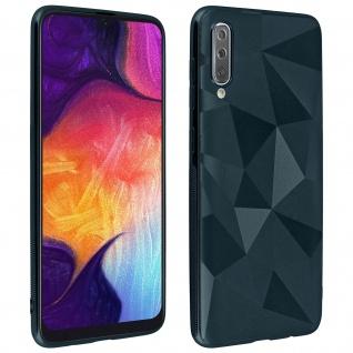 Holographische Handyhülle für Samsung Galaxy A50, Prism Design, Mocca - Blau - Vorschau 1