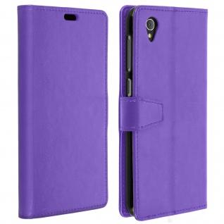 Flip Cover Stand Case Brieftasche & Standfunktion für Alcatel 1 - Violett
