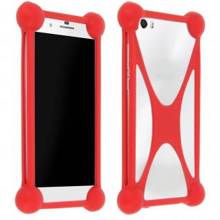 Universal stoßfeste Bumper Schutzhülle Silikon Rot Smartphones ? Mocca Design
