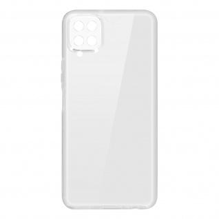 Schutzhülle für Samsung Galaxy A12, Vorder- + Rückseite ? Transparent