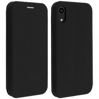 Soft Touch Cover Apple iPhone XR, Kartenfach und Standfunktion - Schwarz