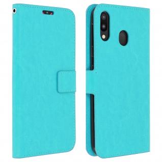 Flip Stand Cover Brieftasche & Standfunktion für Samsung Galaxy M20 - Türkisblau