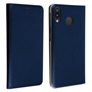 Flip Book Cover, Klappetui aus Kunstleder für Samsung Galaxy M20 - Blau