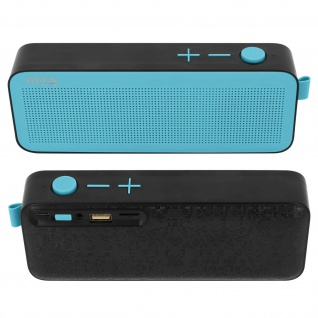 Bluetooth Lautsprecher Mikro-SD USB Stecker 3.5mm Jack Mikrophone FM Radio blau