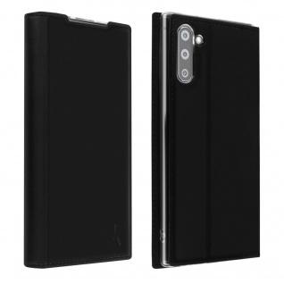Akashi Flip Cover Geldbörse für Samsung Galaxy Note 10 â€? Schwarz