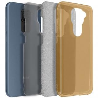 Schutzhülle, Glitter Case für Xiaomi Redmi Note 9, shiny & girly Hülle ? Gold