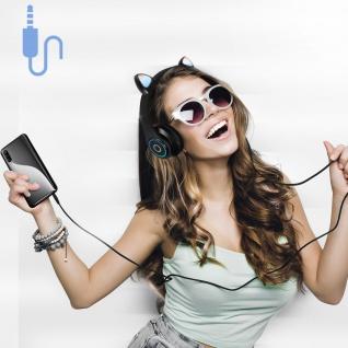 Katzenohren kabellose 5.0 Bluetooth Kopfhörer, Kitty Headset ? Schwarz - Vorschau 5