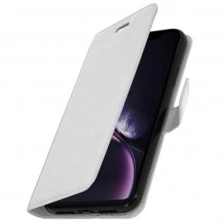 Flip Stand Cover Brieftasche & Standfunktion Apple iPhone XR - Weiß - Vorschau 2