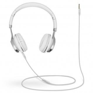 Audio Headset mit 3.5mm Klinkenstecker, EP16 Kopfhörer - Weiß / Silber