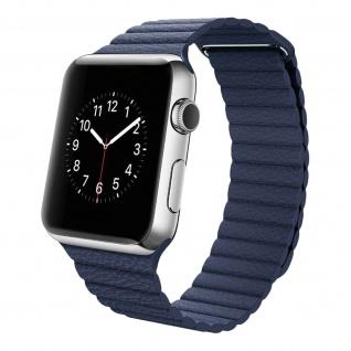 Apple Watch 42/44 mm Premium-Leder Armband, Lederarmband � Dunkelblau