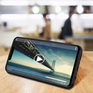 Magnethülle, Silikonhülle für Huawei P Smart Plus, Standcase - Schwarz - Vorschau 4