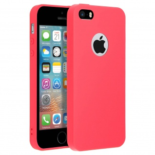 Forcell Apple iPhone 5 / 5S / SE Soft Touch Silikonhülle, soft case - Rot