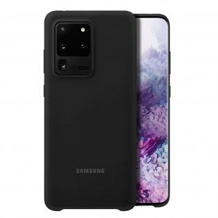 Original Samsung Soft Touch Cover Silikon für Samsung Galaxy S20 Ultra - Schwarz - Vorschau 2
