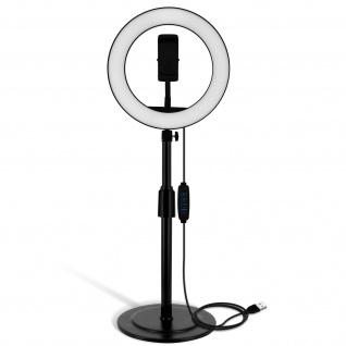 LED-Ringlicht 26cm mit Stativ, by LinQ ? Weiß