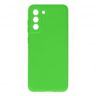 Halbsteife Silikon Handyhülle für Samsung Galaxy S21 FE, Soft Touch ? Grün