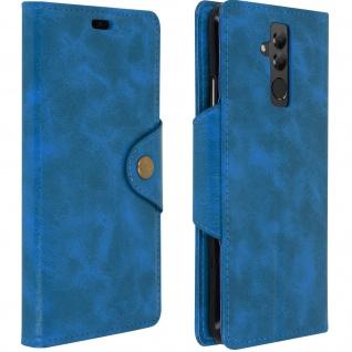 Sixties Style Flip Cover Huawei Mate 20 Lite, Standcase mit Geldbörse - Blau