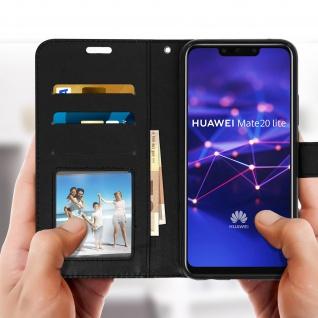 Flip Stand Cover Brieftasche & Standfunktion Huawei Mate 20 lite - Schwarz - Vorschau 3