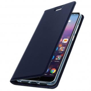 Flip Cover, Klappetui mit Kartenfach & Standfunktion Huawei P20 Pro Dunkelblau