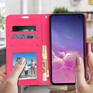 Flip Stand Cover Brieftasche & Standfunktion für Samsung Galaxy S10e - Rosa - Vorschau 3