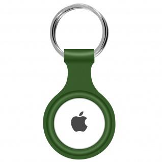 AirTag ultradünner Schlüsselanhänger aus Silikon, mit Metallring ? Grün