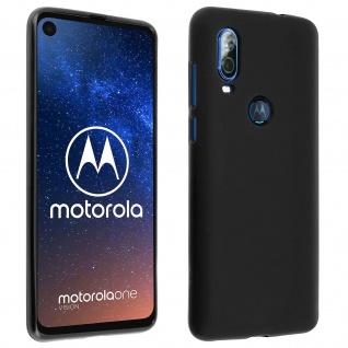Gelhülle, Backcover für Motorola One Vision / One Action, frosted case - Schwarz