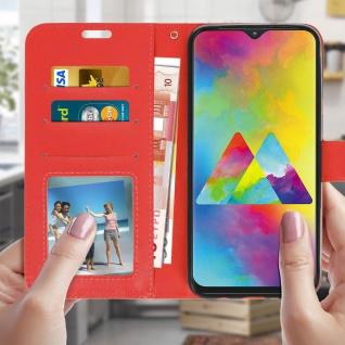 Flip Stand Cover Brieftasche & Standfunktion für Samsung Galaxy M20 - Rot - Vorschau 3