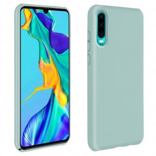 Halbsteife Silikon Handyhülle Huawei P30, Soft Touch - Grün