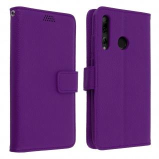 Huawei P Smart plus 2019 Flip-Cover mit Kartenfächern & Standfunktion - Violett