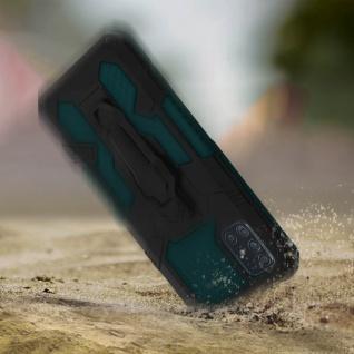 Stoßfeste Handyhülle Samsung Galaxy A51, mit Gürtelclip und Ständer ? Grün - Vorschau 3