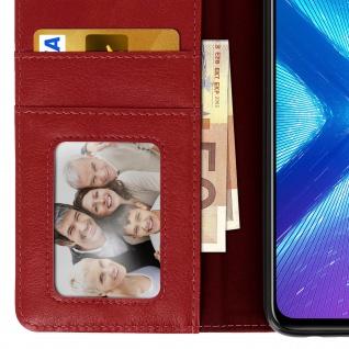 Flip Stand Cover Brieftasche & Standfunktion Huawei Honor 8X - Weinrot - Vorschau 5