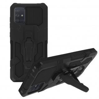 Stoßfeste Handyhülle Samsung Galaxy A51, mit Gürtelclip und Ständer ? Schwarz - Vorschau 2