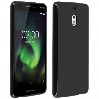 Flexible kratzfeste Schutzhülle aus Silikon für Nokia 2.1 - Schwarz