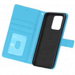 Xiaomi Redmi Note 10 5G / Poco M3 Pro Etui mit Kartenfächern ? Türkisblau