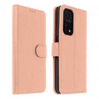 Flip Cover Geldbörse, Etui Kunstleder für Xiaomi Mi 10T / Mi 10T Pro ? Rosegold