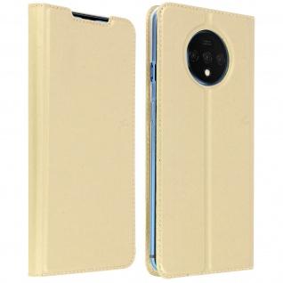 Klappetui mit Kartenfach & Standfunktion Oneplus 7T - Gold