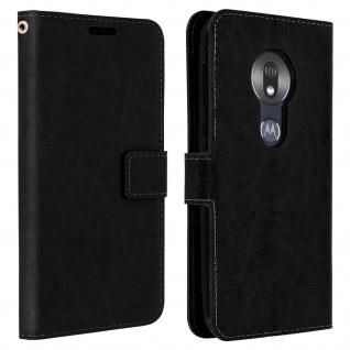 Flip Stand Cover Brieftasche & Standfunktion für Motorola Moto G7 Play - Schwarz