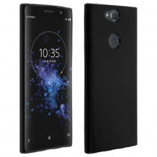 Flexible kratzfeste Schutzhülle aus Silikon für Sony Xperia XA2 Plus - Schwarz