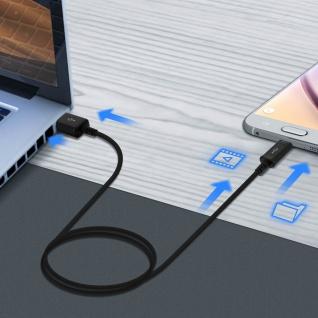 Original Samsung 0.9m USB/ Micro-USB Kabel ?Aufladen & Synchronisierung? Schwarz - Vorschau 4