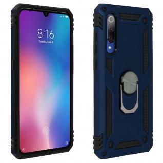 Hybrid Handyhülle mit Ring Halterung für Xiaomi Mi 9 - Dunkelblau