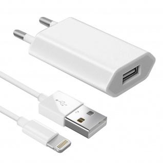 USB Wand Ladegerät + MFI iPhone/iPad Ladekabel (iPod, iPhone) - Weiß