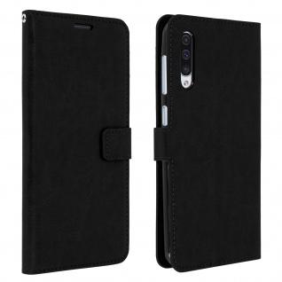 Flip Stand Cover Brieftasche & Standfunktion für Samsung Galaxy A50 - Schwarz