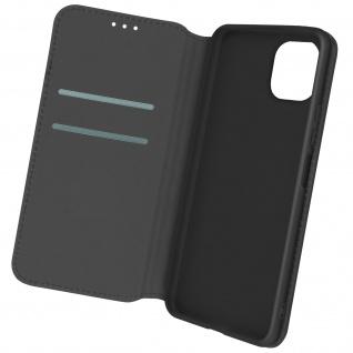 Kunstleder Cover Classic Edition, Klappetui für Samsung A22 5G ? Schwarz