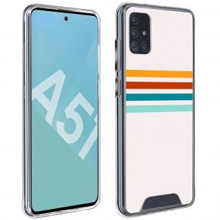 Stoßfeste Handyhülle für Samsung Galaxy A51, Made in France ? Stripes Design