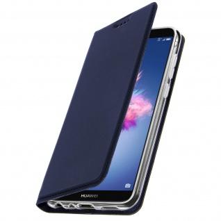 Flip Cover, Klappetui mit Kartenfach & Standfunktion Huawei P Smart Dunkelblau