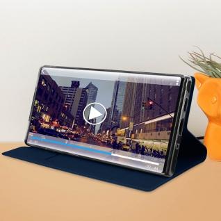 Flip Cover, Klappetui mit Kartenfach & Standfunktion Galaxy Note 10 Dunkelblau - Vorschau 3