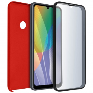 Schutzhülle für Huawei Y6p, Vorder- + Rückseite ? Rot
