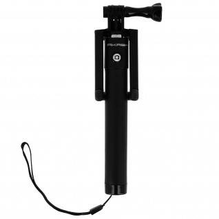 Akashi ausziehbare Selfie-Stange 18 bis 80cm + Bluetooth-Fernauslöser